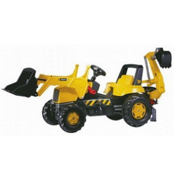 Педальный трактор Rolly Toys rollyJunior JCB Backhoe-Loader арт. 812004